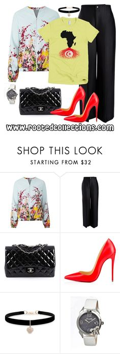 """rooted collections - OOTD #39"" by rootedcollections ❤ liked on Polyvore featuring Joseph, Chanel, Christian Louboutin, Betsey Johnson, Bertha, ootd and Tunisia"