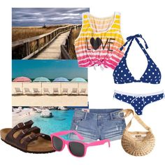 """""""Day at the Beach"""" by ladyky on Polyvore"""
