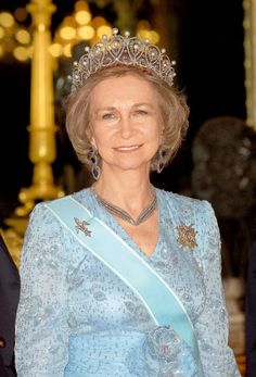 Queen Sofia of Spain Princess Tiara, Prince And Princess, Queen Sophia, Spanish Royalty, Spanish Royal Family, Royal Tiaras, Royal Jewelry, Royal House, Crown Jewels