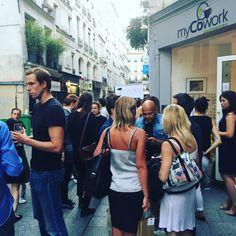 Hier chez #myCowork, soirée dégustation de vins #monpetitsommelier ! Merciiii Greg 😊 Retrouvez tous les vins que vous avez aimé et bien plus encore sur www.monpetitsommelier.com #coworking #paris #montorgueil