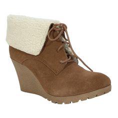 Mia Dacey Wedge Bootie   from Von Maur #VonMaur #Boots #Fashion #Shoes #Bootie #Wedges