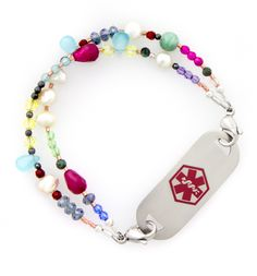 La Fiesta Medical ID Bracelet - yes here it is one of my new medical ID bracelets from Lauren's Hope.  They have the best out there I just love love all 11 that I have!!!