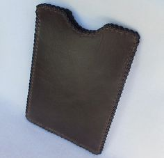 Handmade leather tablet case leather iPad mini by CaffyLeather
