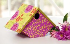 Birdhouses  Evergreen Painted Wood, English Garden, Bird House With Clean Out Door/Hole, 9.5x7.5x6.5 Inches Porch Décor *** This is an Amazon Associate's Pin. Find similar products on the website by clicking the image.