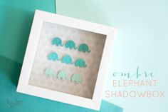Ombre Elephant Shadowbox | Hey Love Designs