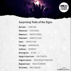 traits Surprising Traits of The Signs Zodiac Sign Traits, Zodiac Signs Horoscope, Zodiac Memes, Zodiac Star Signs, My Zodiac Sign, Zodiac Horoscope, Zodiac Quotes, Astrology Signs, Zodiac Facts