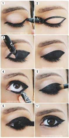 learning step by step. makeup i want to wear for halloween as a black cat!:)