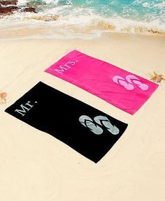 Beach Towel is ideal to take along on their tropical honeymoon. Perfect for laying out or drying off after a dip at the beach or pool, they& made of cotton for maximum absorbency. x Machine care. 3rd Wedding Anniversary, Anniversary Ideas, Honeymoon Shower, Beach Bath, Beach Towel, Anniversary Getaways, Bridal Shower Gifts, Wedding Gifts, Wedding Ideas
