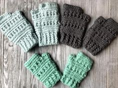 Crochet Tops Patterns Ana Fingerless Gloves Crochet Pattern - Crochet it Creations - Make the Ana Fingerless Gloves Crochet Pattern in 3 sizes: adult, teen, and child. Perfect for texting or typing in a chilly office. Crochet Fingerless Gloves Free Pattern, Crochet Mittens, Mittens Pattern, Fingerless Mittens, Crochet Gifts, Beanie Pattern, Ravelry Crochet, Crochet Ideas, Crochet Scarves