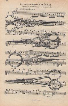 Vintage Barber Shop Scissors antique sheet music by LiberoAntiques, $9.99