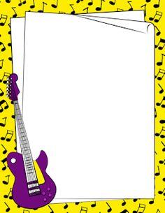 Free clip art musical borders transparent bing images - Guitar border wallpaper ...