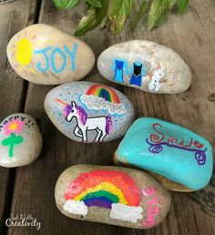 20 CRAZY FUN ROCK DECORATING IDEAS FOR KIDS | Pinterest | Rock art ...