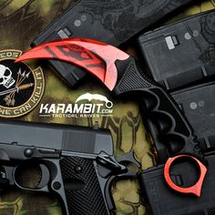 Painted Honshu Condition Red Karambit - Karambit.com