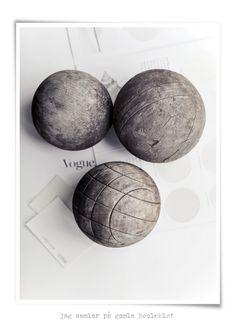 wooden balls.