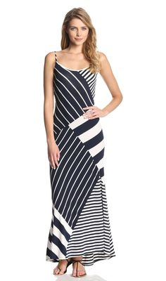 babc8d505c3 Vince Camuto Wrap Top Stripe Mixed Print Maxi Dress Смешивание Принтов