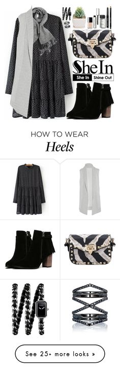 """""""Shein"""" by oshint on Polyvore featuring Duffy, Bobbi Brown Cosmetics, Chanel, Eva Fehren, women's clothing, women's fashion, women, female, woman and misses"""