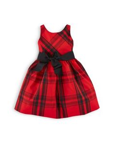 Ralph Lauren Childrenswear Girls' Plaid Fit And Flare Dress - Sizes 2-6X | Bloomingdale's