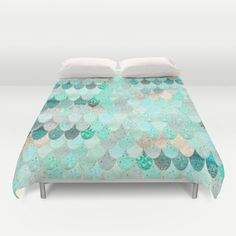 Buy ultra soft microfiber Duvet Covers featuring SUMMER MERMAID by Monika Strigel. Hand sewn and meticulously crafted, these lightweight Duvet Cover vividly feature your favorite designs with a soft white reverse side.