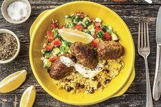 Beef Koftas & Pine Nut-Currant Couscous Recipe | HelloFresh