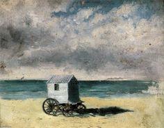 Cabane de bain, huile de James Ensor (1860-1949, Belgium)