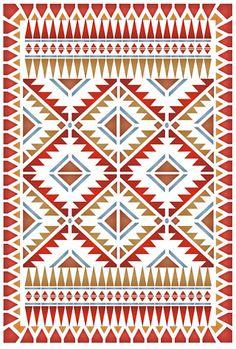 High Ridge Border and Corner Stencil - Henny Donovan Motif Viking Symbols, Mayan Symbols, Egyptian Symbols, Viking Runes, Ancient Symbols, Tribal Patterns, Quilt Patterns, American Indian Art, Native American