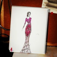 Another modern kebaya sketch by Adzani A. Ameridyani // indonesia / fashion design