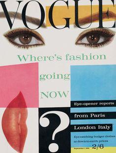 """Vogue UK September 1961 ¿Se inspiró Almodóvar en el para el cartel de """"mujeres al borde de un ataque....""""?"""