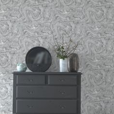 Azurite by Albany - Grey/ Silver : Wallpaper Direct Silver Marble Wallpaper, Silver Textured Wallpaper, Marble Effect Wallpaper, Wallpaper Direct, Home Wallpaper, Grey Wallpaper, Teal Colors, Colours, Paint Companies