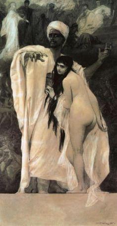 Gustav Klimt - Secession & Art Nouveau - Fairy tale - 1884