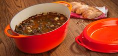 Bouef Bourguignon from Le Creuset, roughly the same recipe that my mom and grand ma use in France!