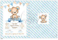 Προσκλητήριο βάπτισης Lavly για αγόρια με αρκουδάκι Teddy Bear, Toys, Animals, Activity Toys, Animales, Animaux, Toy, Teddy Bears, Animal Memes