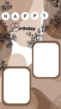 Happy Birthday Template, Happy Birthday Frame, Happy Birthday Posters, Happy Birthday Quotes For Friends, Happy Birthday Wallpaper, Happy Birthday Wishes Cards, Birthday Cards, Instagram Emoji, Instagram Blog