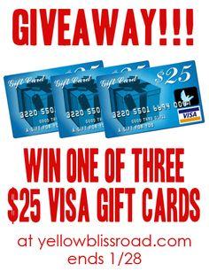Visa gift card giveaway!