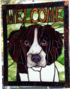 Kiln Fired Dog Face-AmberLyn's STG - Delphi Stained Glass