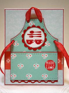 Cute apron card!