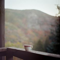 waking up to morning coffee in the Smoky Mountains