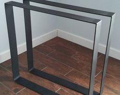 Trapèze en acier Dîner table base 1/4 épais par MetalloDesign