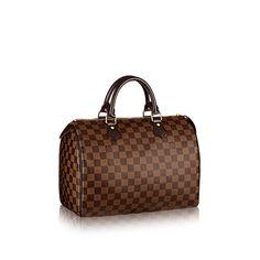 Speedy 30 Damier Ebene Canvas - Handbags | LOUIS VUITTON