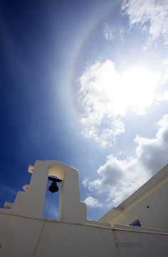 Natural effect over the characteristic church of Cyclades.