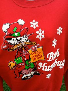 1980s UNISEX Ugly Christmas Scrooge Sweat by VinTaGeOus102607, $30.00