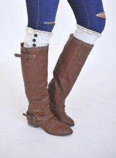 Ivory Button Boot Cuff - Dottie Couture Boutique