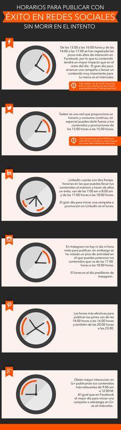 Horarios para publicar con éxito en redes sociales | Mundo Ejecutivo