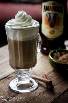 South African Amarula Coffee By Sasha Martin Cocktail Drinks, Alcoholic Drinks, Cocktails, Amarula Drink, My Coffee, Coffee Drinks, Yummy Drinks, Yummy Food, Yogurt