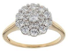 Bella Luce (R) 1.80ctw White Diamond Simulant 10k Yellow Gold Ring (.8