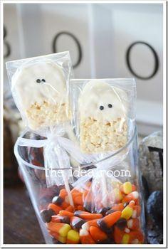 rice krispie ghosts