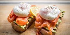 healthy and delicious breakfast alternatives! Toast with avocado, salmon and  egg, yogurt smoothie and many more!