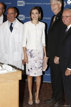 Queen Letizia visited the National Cancer Institute at the Washington Hospital on September 16, 2015 in Washington.