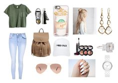 """""""Untitled #140"""" by h3llo6 on Polyvore featuring Glamorous, Converse, Casetify, Nasaseasons, Ray-Ban, Ippolita, Laura Geller, Fantasia by DeSerio and DKNY"""