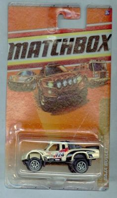 Matchbox 2009-94/100 Desert Endurance Baja Bullet 1:64 Scale by Mattel. $1.68. 1:64 Scale Die Cast Collector Car. light creme/beige tan color with racing deco on body (#724 and various small logos)