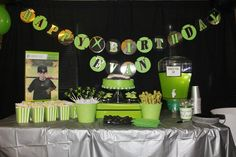 (*** http://BubbleCraze.org - Best-In-Class new Android/iPhone Game ***)  xbox 360 birthday party table..love the green punch (gamer fuel) I want to do everything about this for Carson...love love this!!
